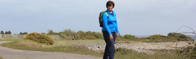 b07 self-portrait, Ruth Livingstone walking towards Llanelli