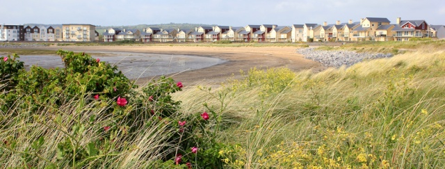 b10 new development Machynys, Ruth walking the coast, Llanelli