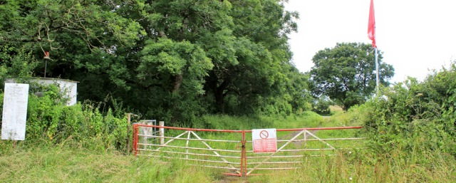 03 no entry, Ruth walking around Castlemartin Ranges