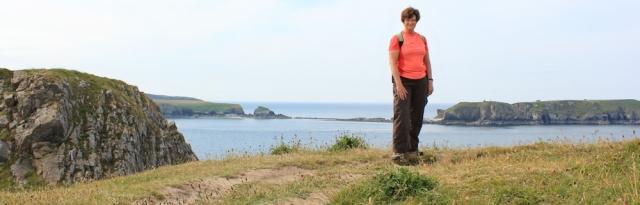 05 self-portrait, Ruth Livingstone, walking towards Lydstep, Wales