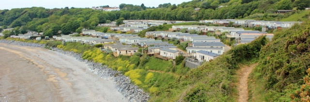 08 static homes, Lydstep, Ruth on Pembrokeshire Coast Path