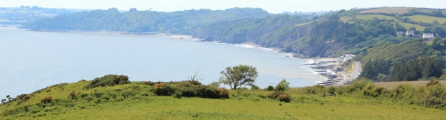 down to Amroth, Ruth walking in Wales