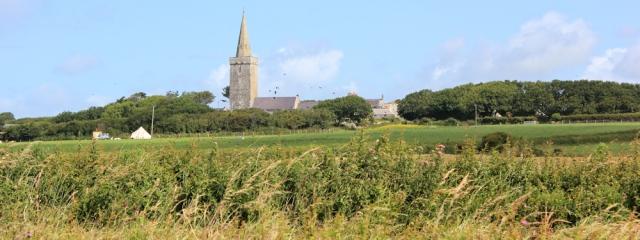 12 church at Warren, Ruth walking around the Castlemartin Range