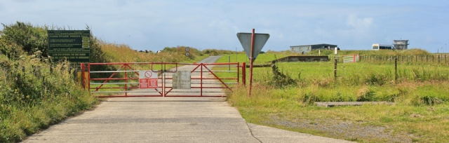 13 main road through Artillery Range, Ruth walking in Pembrokeshire, Castlemartin