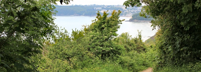 towards Saundersfoot, Ruth's coastal walk to Tenby
