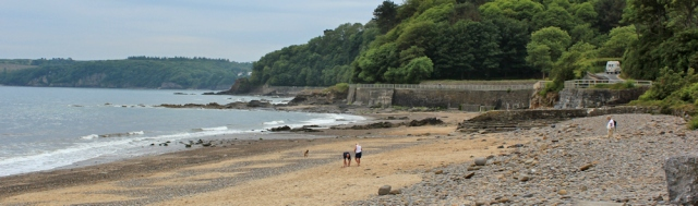 Wiseman's Bridge to Saundersfoot, Ruth walking the Pembrokeshire Coast
