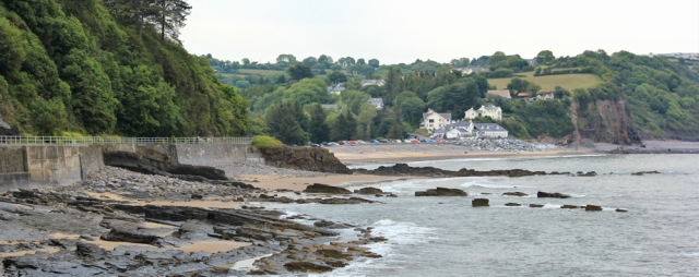 back to Wiseman's Bridge, Ruth walking the coast to Saundersfoot