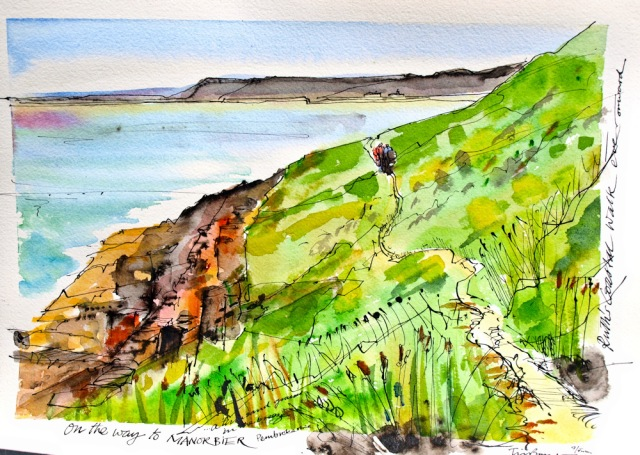 20 Painting by Tim Baynes, on way to Manorbier