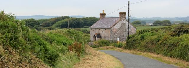 22 asbestos house, Ruth walking to Bosherston