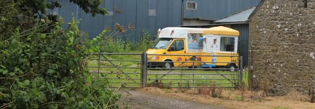 peek-a-boo icecream van, Ruth hiking in Wales