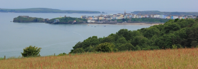 Tenby, Ruth walking the Pembrokeshire coast
