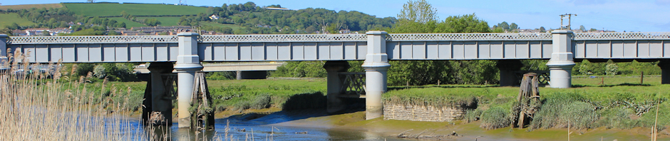 header, railway bridge over Towy, Ruth Livingstone