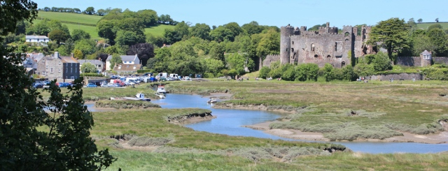Laugharne castle and harbour, Ruth Livingstone hiking in Wales