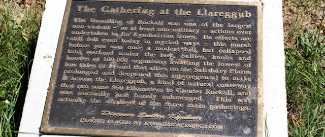 The Gathering at the Llareggub, Ruth Livingstone in Laugharne