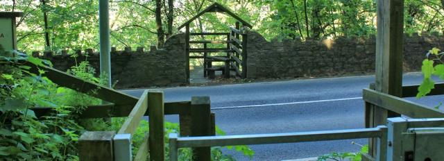a11 crossing B4312, Ruth on Wales Coast Path, Carmarthenshire