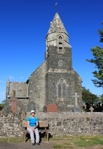 a16 Llangain church, with Ruth Livingstone