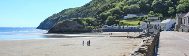 Pendine, Ruth on Wales Coast Path, Carmarthenshire