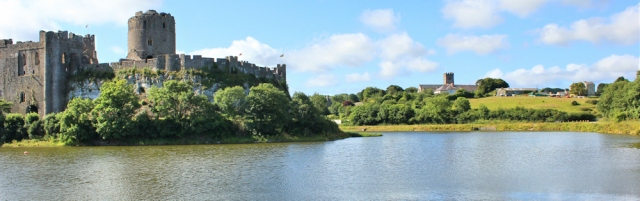 01 Pembroke Castle and Monkton, Ruth Livingstone hiking in Wales