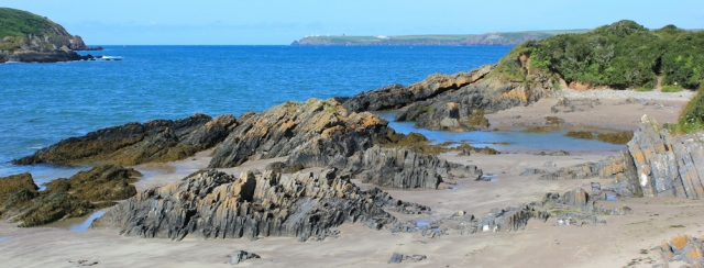 West Angle Bay, Ruth Livingstone walking the Pembrokeshire Coast Path