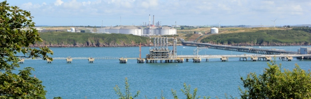 South Hook natural gas terminal, Ruth walking in Milford Haven