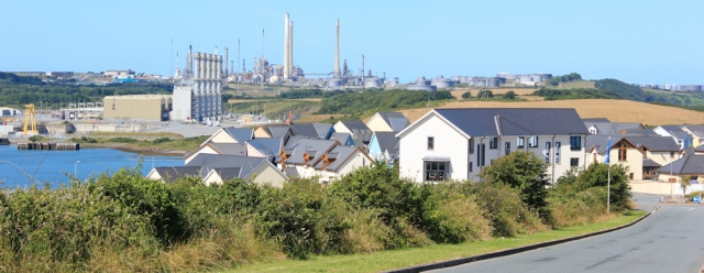 06 Oil Refinery across Pennar Mouth, Ruth in Pembroke Dock