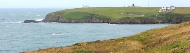 07 St Ann's Head, Ruth hiking the Pembrokeshire Coast Path, Wales