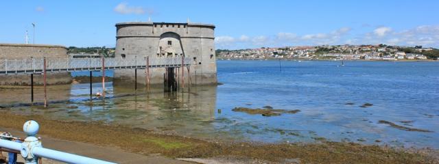 08 Martello Tower, Pembroke Dock, Ruth walking in Pembrokeshire