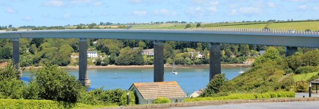 10 Cleddau Toll Bridge, Ruth walking the Pembrokeshire Coast Path