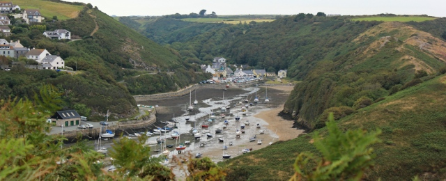 11 Solva Harbour, Ruth walking the coast, Pembrokeshire