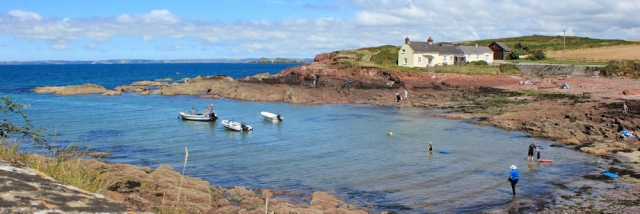 St Brides, Ruth walking the coastal path in Pembrokeshire