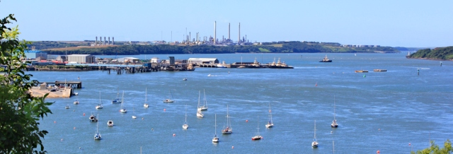 11 view up Milford Haven from Cleddau Bridge, Ruth Livingstone