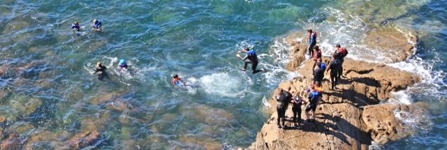 14 coasteering, Ruth walking the Pembrokeshire Coast Path