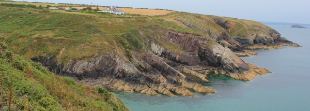 15 Caer Bwdy Bay, Ruth hiking the Pembrokeshire Coast Path