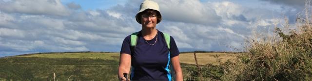 15 self-portrait, Ruth Livingstone in Pembrokeshire