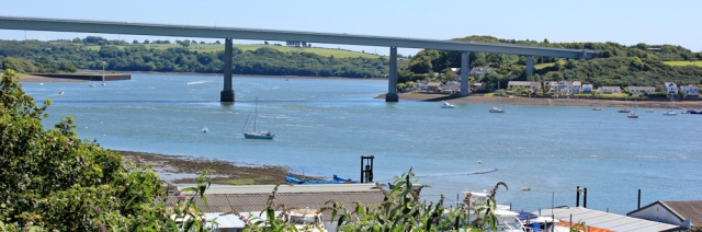 15 view back to Cleddau Bridge from Neyland, Ruth in Pembrokeshire