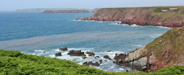 16 rugged coast, near Dale, Ruth in Wales