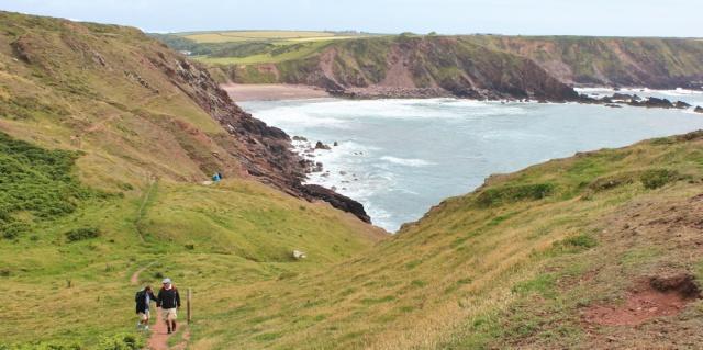 18 Westdale Bay, Ruth hiking the Pembrokeshire Coastal Path
