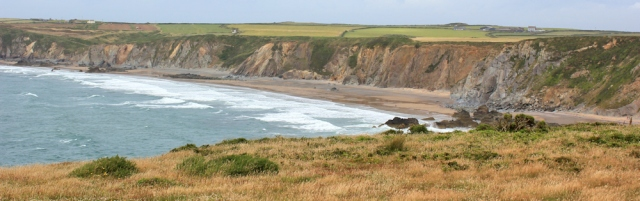 19 Marloes Sands, Ruth walking the PCP, Pembrokeshire, Wales