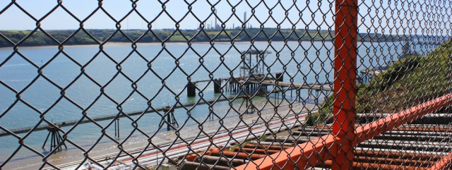 21 restricted views of the liquified natural gas storage facility, Milford Haven