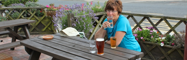 Ruth Livingstone with cider in Pembroke