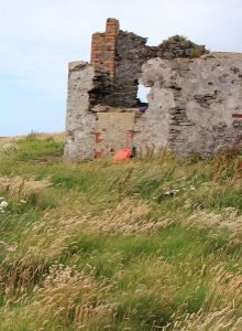 ruined building with view of Whitedole Bay, Ruth in Pembrokeshire