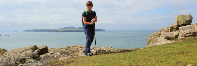 Ruth Livingstone on St Davids Head, Wales