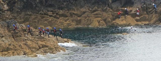 more kids, Ruth hiking the Pembrokeshire coast path