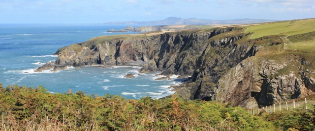 towards Abereiddy, Ruth on Pembs Coast Path