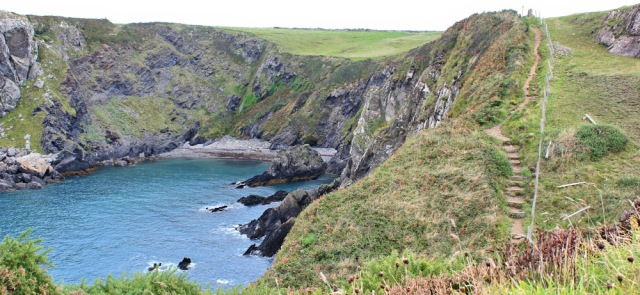 10 little coves, Ruth walking the Pembrokeshire Coast Path
