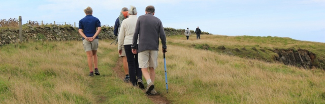 12 walkers on the Pembrokeshire Coast Path, Ruth Livingstone