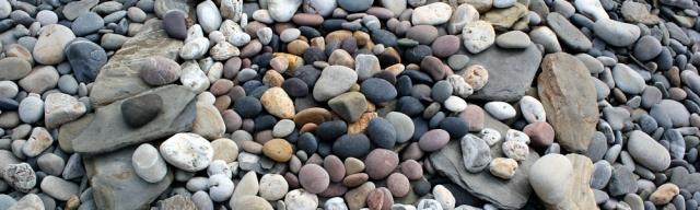 b01 circle of stones on beach, Ruth Livingstone