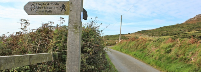 b17 road at Pwll Deri, Ruth Livingstone's coastal walk