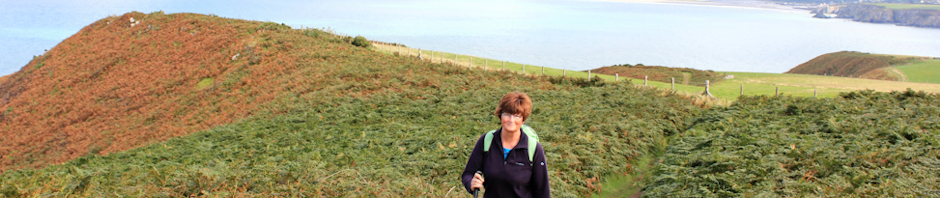 Ruth Livingstone on Dinas Head