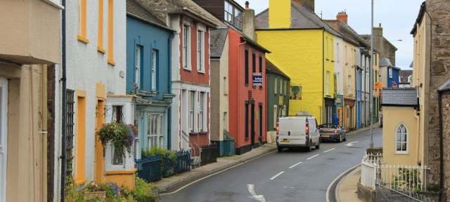 01 Fishguard street, Ruth walking the Wales Coast